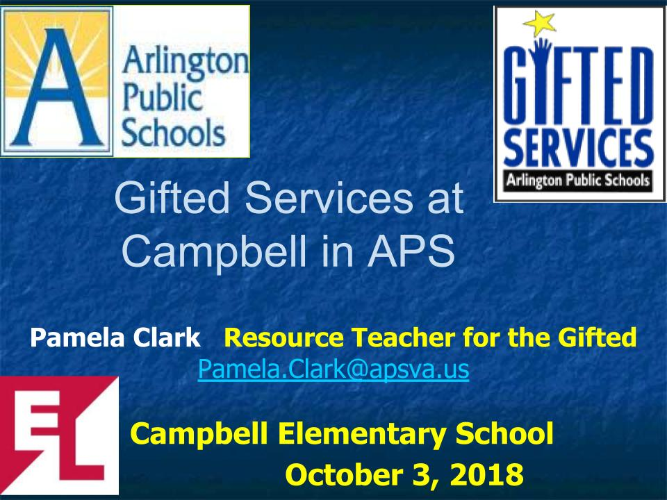 GIfted Services at Campbell in APS 2018
